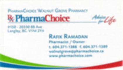 FRASER MEDICINE CENTRE PHARMACY, Alia Khan