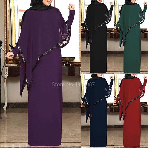 Abaya Dubai Turkey Muslim Hijab Dress Women Irregular Shawl Kaftan Caftan