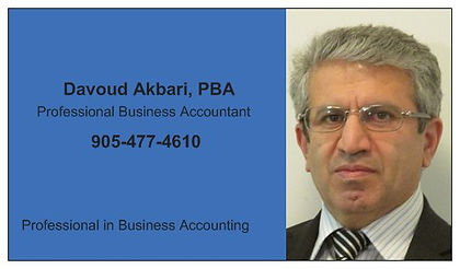 Davoud Akbari, Professional Business Accountant