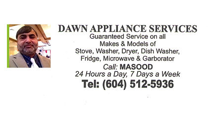 Dawn Appliance Services