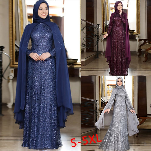 Muslim Abaya Scarf Dress Sets Women Dubai Kaftan Arabic Turkey Islamic Prayer