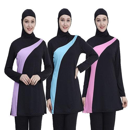 2019 Long Sleeve Muslim Swimsuit Plus Size Swimwear Women Muslim Nylon Burkini