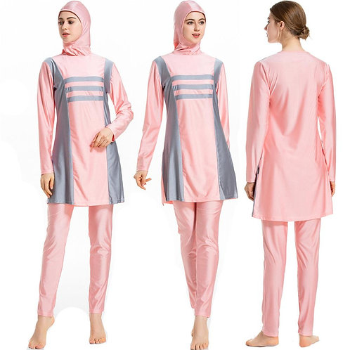 Modest Women Swimsuit Long Sleeves Islamic Hijab Burkinis