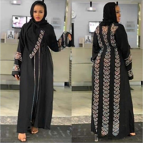 Abayas for Women Elegant Hijab Dress Dubai Turkey Muslim Hijab Dress Caftan