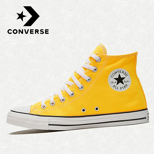 Original Converse- Classic All Star Shoes Unisex Yellow Skateboarding Shoes