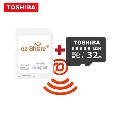 Ezshare Wireless Wifi Adapter TOSHIBA Micro SD Card C10 16GB 32GB 64GB 128GB