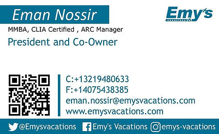 Eman Nossir, Emys Vacations