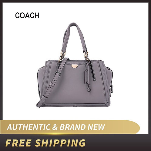 COACH Mixed Leather With Metallic Details Dreamer Satchel