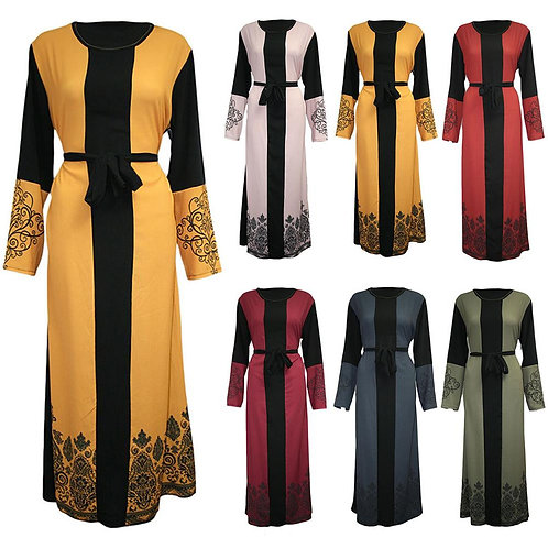 Elegant Kaftan Malaysia Muslim Hijab Dress Dubai Abaya 2020 Fashion Muslim Gown
