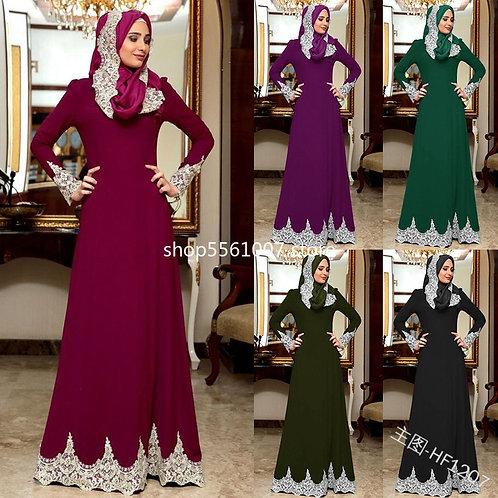 2020 Fashion New Style Muslim Women Dresses  European Clothing