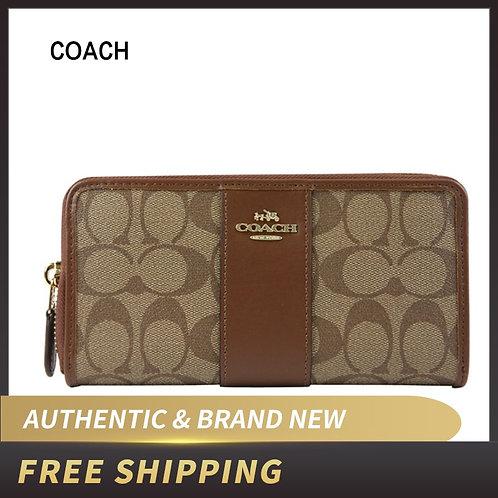 Coach Accordion Zip Wallet in Signature Canvas F54630/F67538