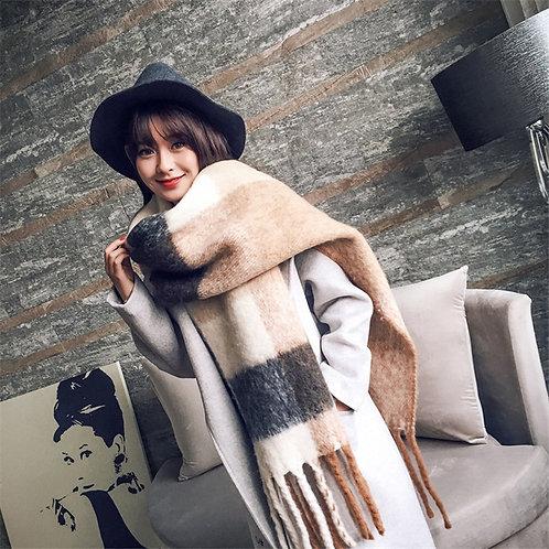 2020 NEW Fashion Cashmere Women Plaid Scarf Winter Warm Shawl and Wrap Pashmina