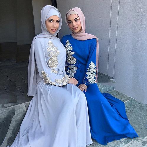 Eid Mubarak Kaftan Abaya Dubai Turkey Muslim Hijab Dress Islam Clothing