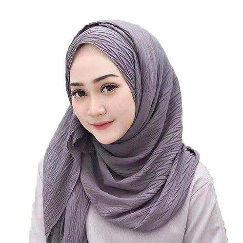 Muslim Women Crinkle Hijab Scarf Soft Chiffon Plain Headscarf Shawls and Wraps