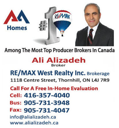 Ali Alizadeh, Re/Max Top Producer