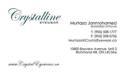 Crystalline Eyewear, Optician