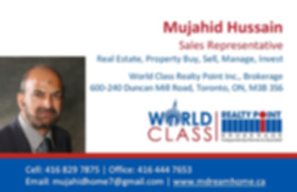 Mujahid Hussain, World Class realty Point