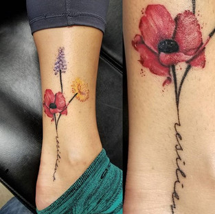 Poppy, Hyacinth & Dandelion