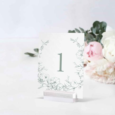 Blossom Masa Numarası Kartı