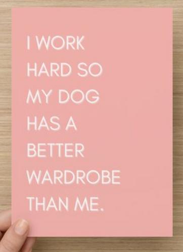 I work hard.