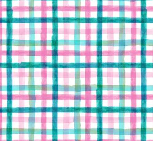 PRE ORDER- Checkered pink & turquoise