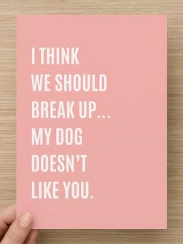 I think we should break up...