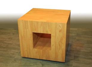 Rubberwood center table cum stool
