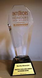 Society Interiors award for Devika Banejee in November '16