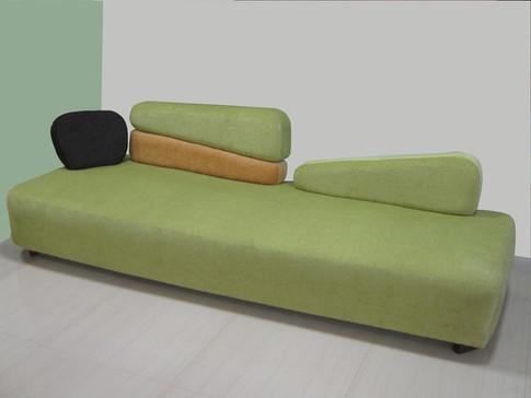 Reception sofa at ABP