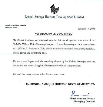 Bengal Ambuja appreciation