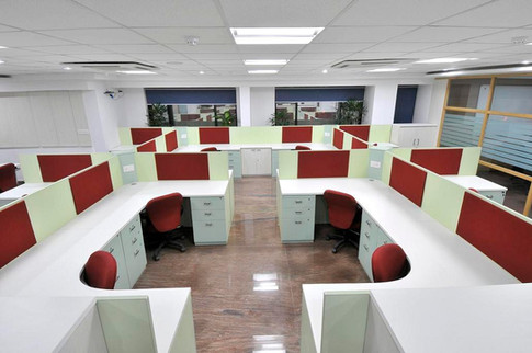 Custom made workstations at L&T Finance