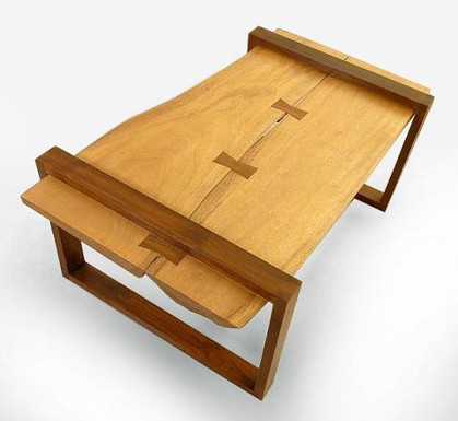 """Custome made """"Stitched"""" center table"""