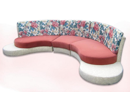 Curved family sofa