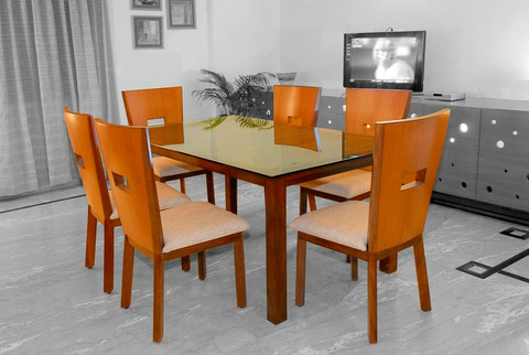 Dining table for Tata Hitachi guest house