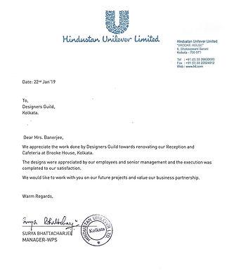 Appreciation of Designers Guild from Hindustan Unilever