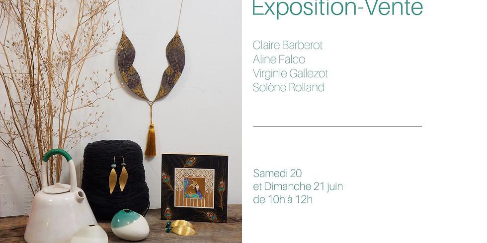 Exposition les Ateliers confidentiels chez Claire Barberot.