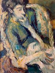 Portrait de Maryse Rolland par Yvon Rolland, le grand-père de Solène, peintre, sculpteur et dessinateur.