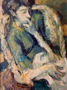 Portrait de Maryse Rolland par Yvon, peintre et dessinateur, grand père de Solène