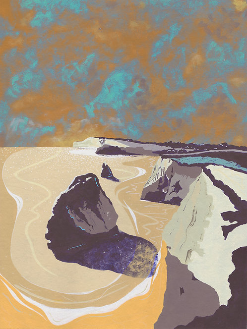 'Isle of Wight' Limited Edition Giclee Print 30cm x 40cm