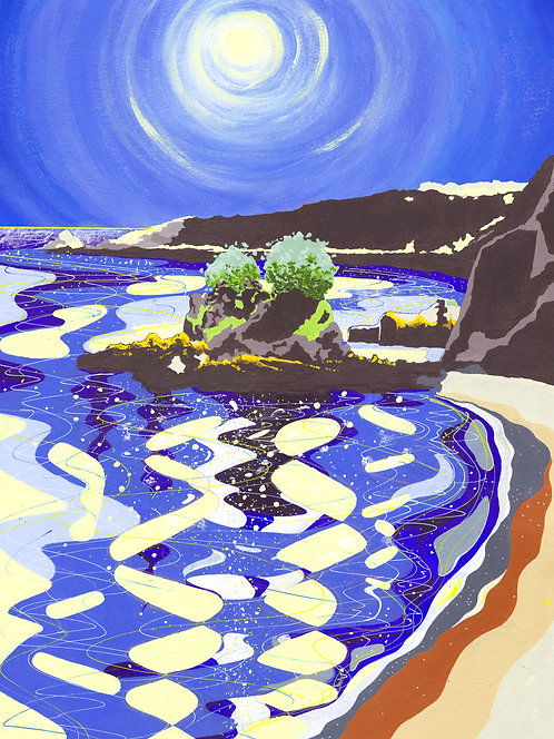 'Bouley Bay L'Islet' Limited Edition Giclee Print 42cm x 56cm