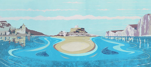 'British Isles II' Limited Edition Giclee Print 90cm x 40cm