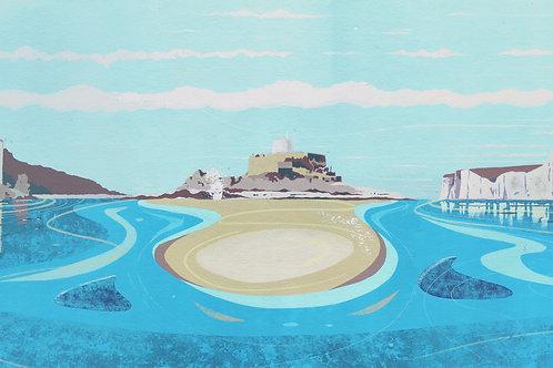 'British Isles II' Limited Edition Giclee Print 90cm x 40cm