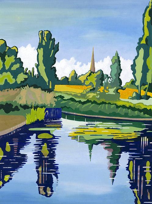 'Brockwell Park Pond' Limited Edition Giclee Print 43cm x 57cm