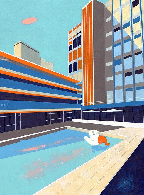 'Orange Oasis' Limited Edition Giclee Print 43cm x 57cm
