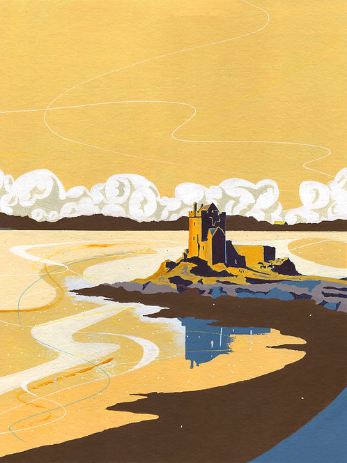 'Dunguaire Castle, Kinarva' Limited Edition Giclee Print 30cm x 40cm