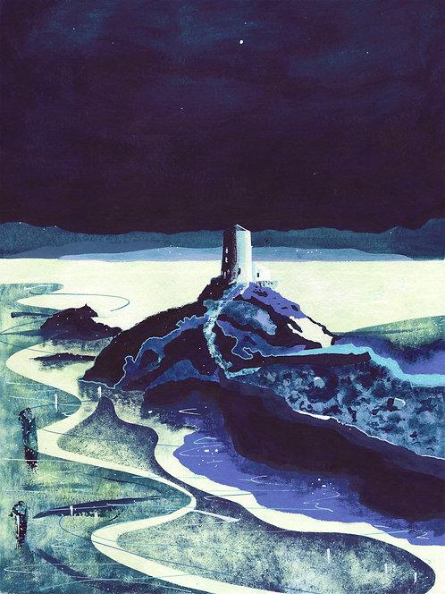 'Llanddwyn Island, Anglesey' Original painting. Acrylic on paper 30 x 40cm.