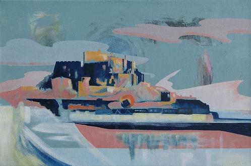 'Mont Orgueil' Limited Edition Giclee Print 60cm x 40cm
