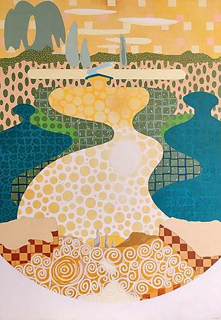 Trinity I. Acrylic painting. Rian Hotton 2021.