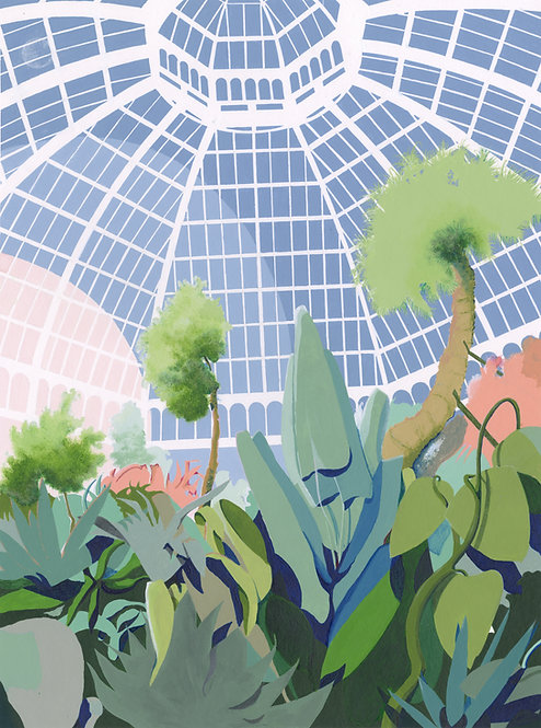 'Kew Palm House' Limited Edition Giclee Print 43cm x 57cm