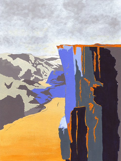 'Norwegian Peaks III' Limited Edition Giclee Print 30cm x 40cm